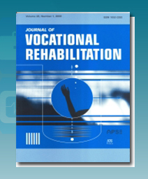 Cover image Journal of Vocational Rehabilitation