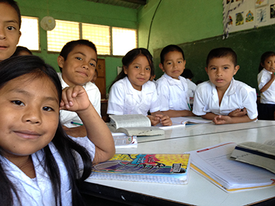 Students in a classroom in Honduras.